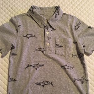 Boy shark polo shirt with pocket Carters